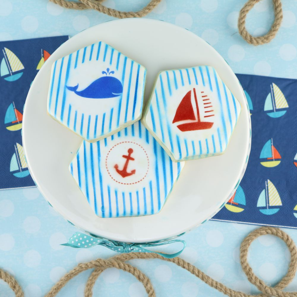 Seafaring Accent Cookie Stencil