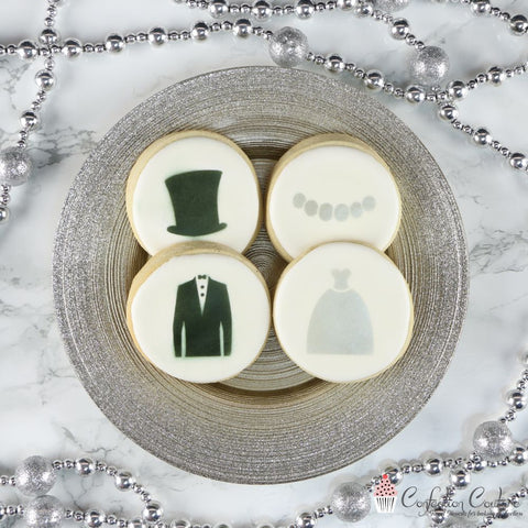 Bride and Groom Accent Cookie Stencil