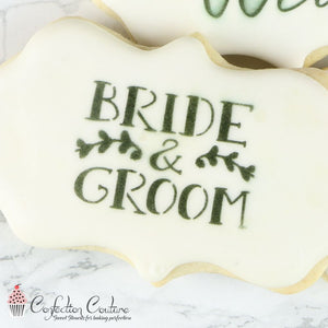 Wedding Bells Words Cookie Stencil
