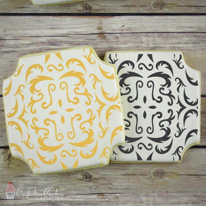 Victorian Background Cookie Stencil by Confection Couture