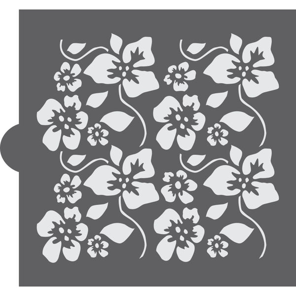 Tropical Hibiscus Background Cookie Stencil Background