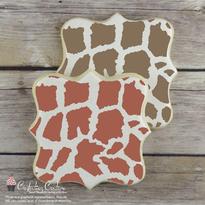 Giraffe Print Basic Background Cookie Stencil by Confection Couture