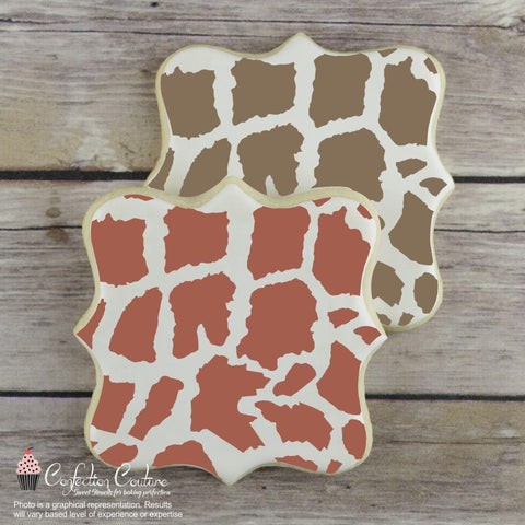Giraffe Print Background Cookie Stencil Background