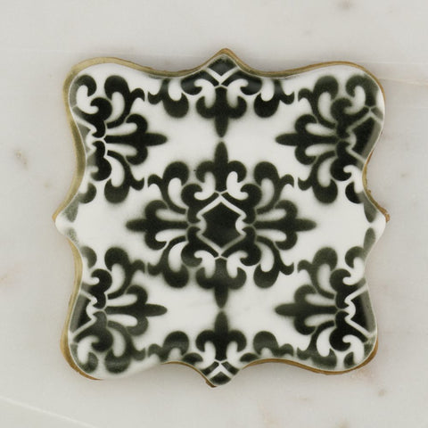 Modern Parisian Background Cookie Stencil