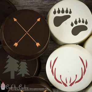 Cabin Fever Basic Accent Cookie Stencil by Confection Couture