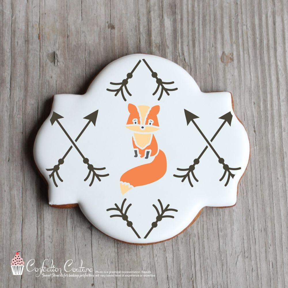 Forest Critters Basic Accent Cookie Stencil by Confection Couture