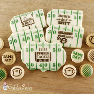 Football Words Cookie Stencil Words