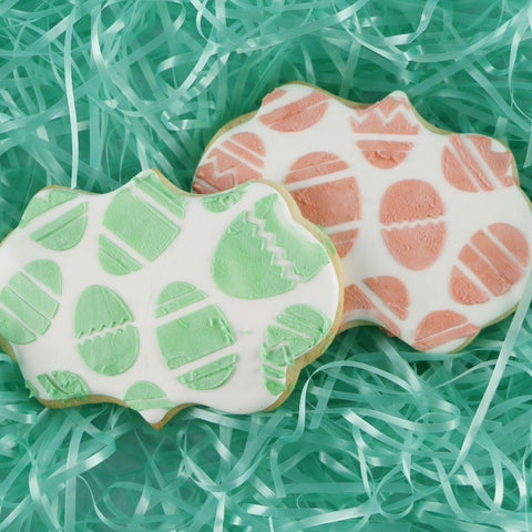 Easter Eggs Background Cookie Stencil