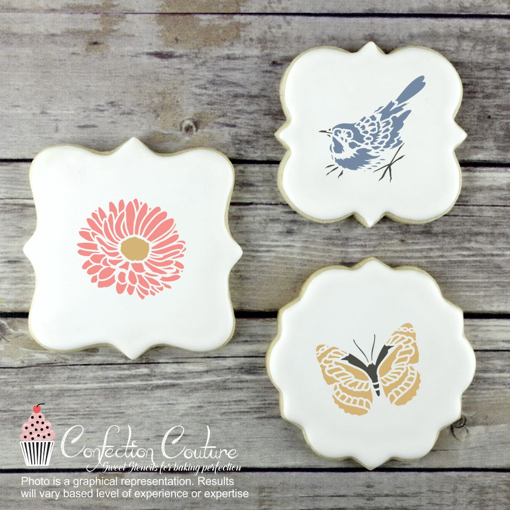 Spring Basic Accent Cookie Stencil by Confection Couture