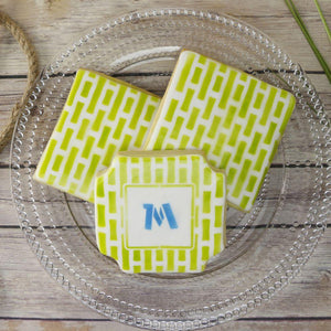 Bamboo Monogram Background Cookie Stencil