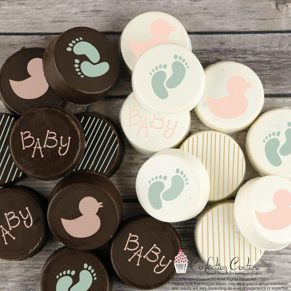 Baby Round Cookie Stencil 3 Piece Set by Confection Couture