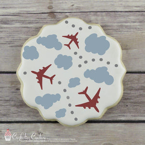 In The Clouds 2 Overlay Background Cookie Stencil