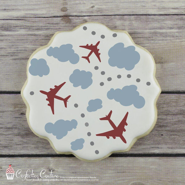 In The Clouds Background 2 Overlay Cookie Stencil by Confection Couture