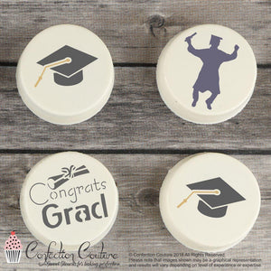 Graduation Round Cookie Stencil 3 Pc Set