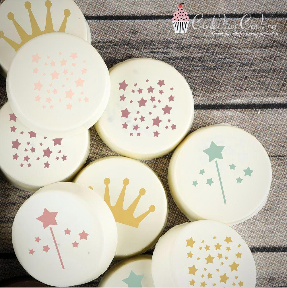 Princess Round Cookie Stencil 3 Pc Set