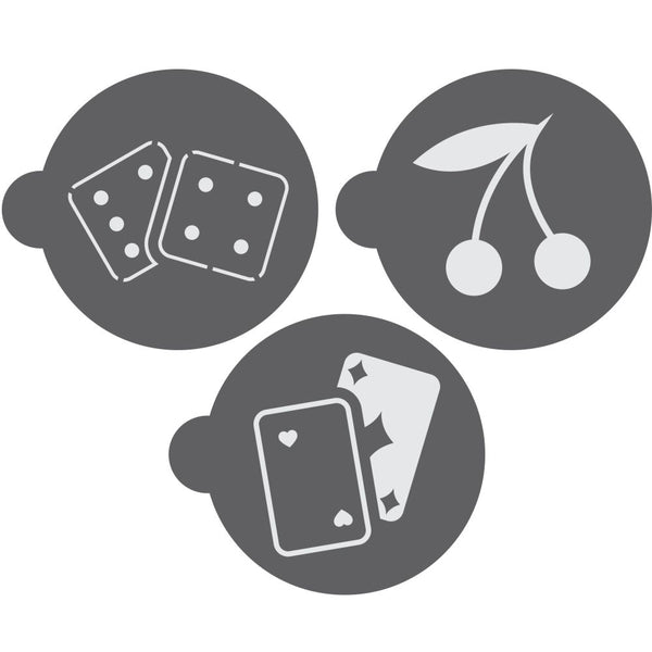 Poker Round Cookie Stencil 3 Piece Set
