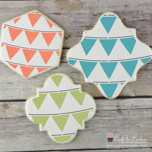 Party Flags Basic Background 2 Overlay Cookie Stencil