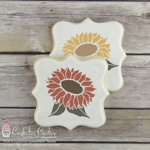 Sunflower Basic Accent Cookie Stencil by Confection Couture
