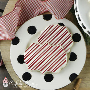 Candy Cane Stripe Background Cookie Stencil