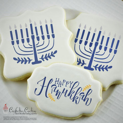 Happy Hanukkah Accent Stencil Accents
