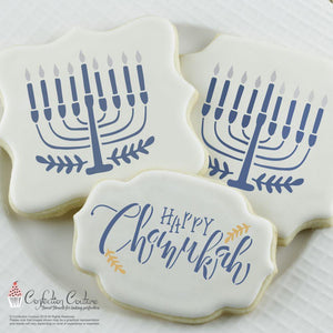 Happy Chanukah Accent Stencil