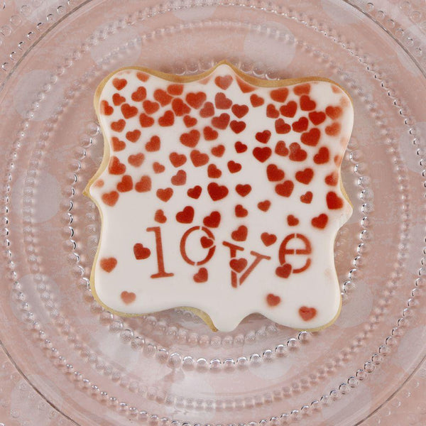 Valentine Confetti Background Cookie Stencil
