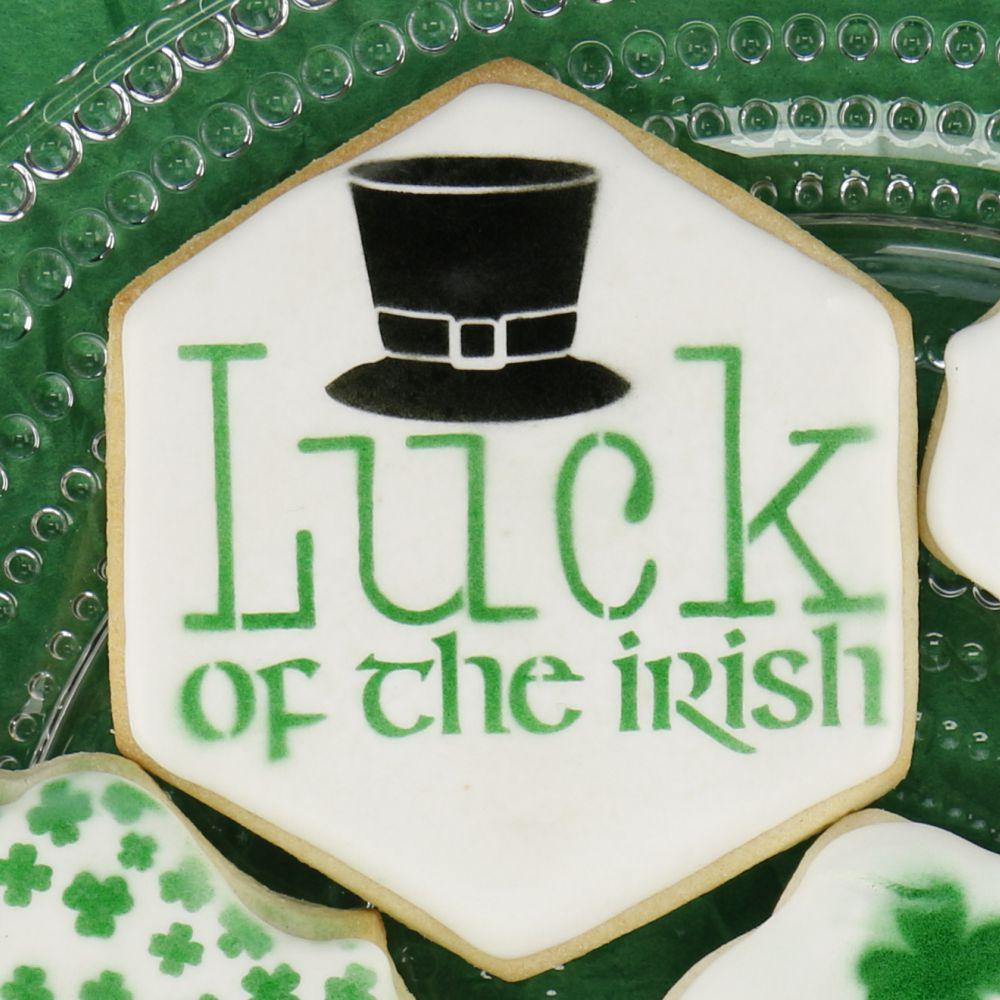 Luck of the Irish Message Cookie Stencil