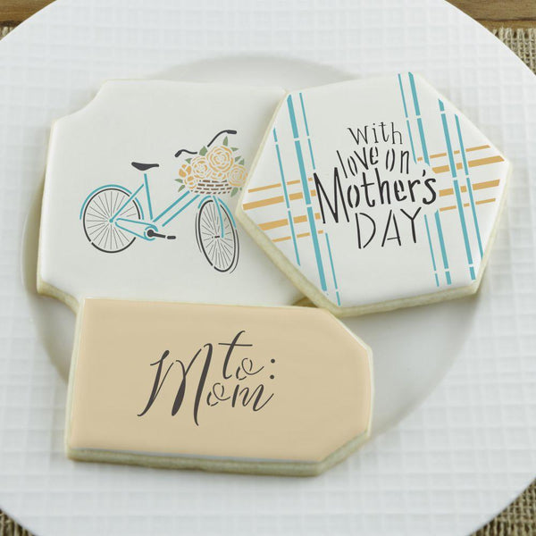 Mother's Day Love Accent Cookie Stencil