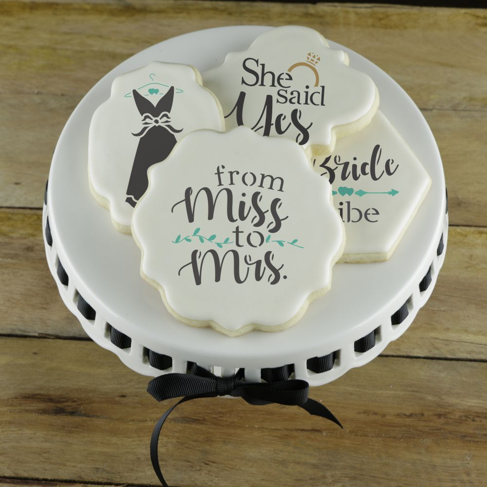Confection Couture Wedding Cookie Stencils
