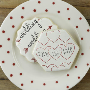 Wedding Announcement Cookie Stencil