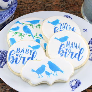 Bird Family Cookie Stencil