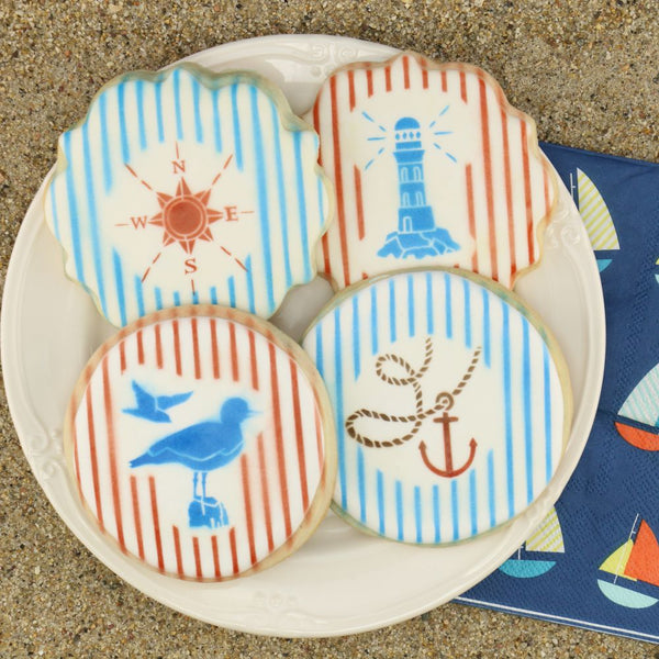 Salty Air Accent Cookie Stencil