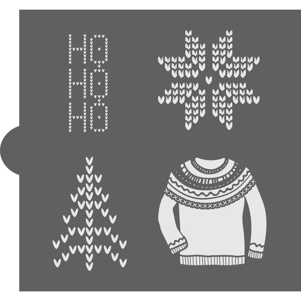 Scandinavian Sweater Cookie Stencil