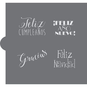 Spanish Event and Holiday Greetings Cookie Stencils