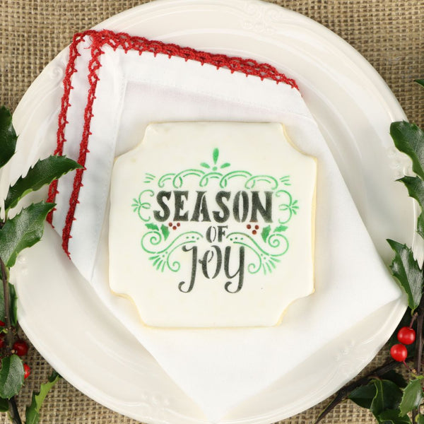 Season of Joy Cookie Stencil