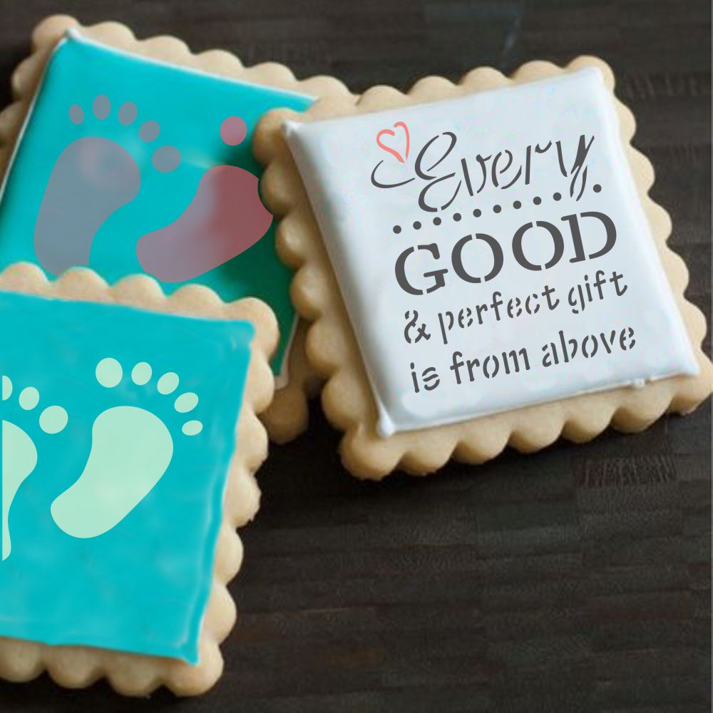Perfect Gift Cookie Stencil