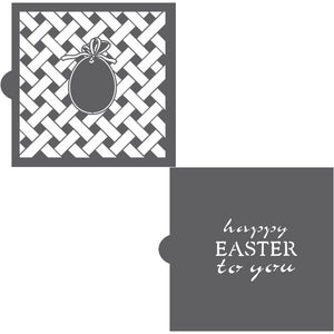 Happy Easter to You Background with Message Cookie Stencil