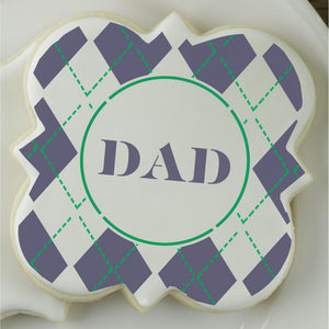 Argyle Print Dad Cookie Stencil