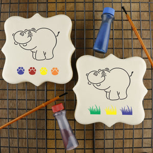 Hippo Paint Your Own Cookie Stencil