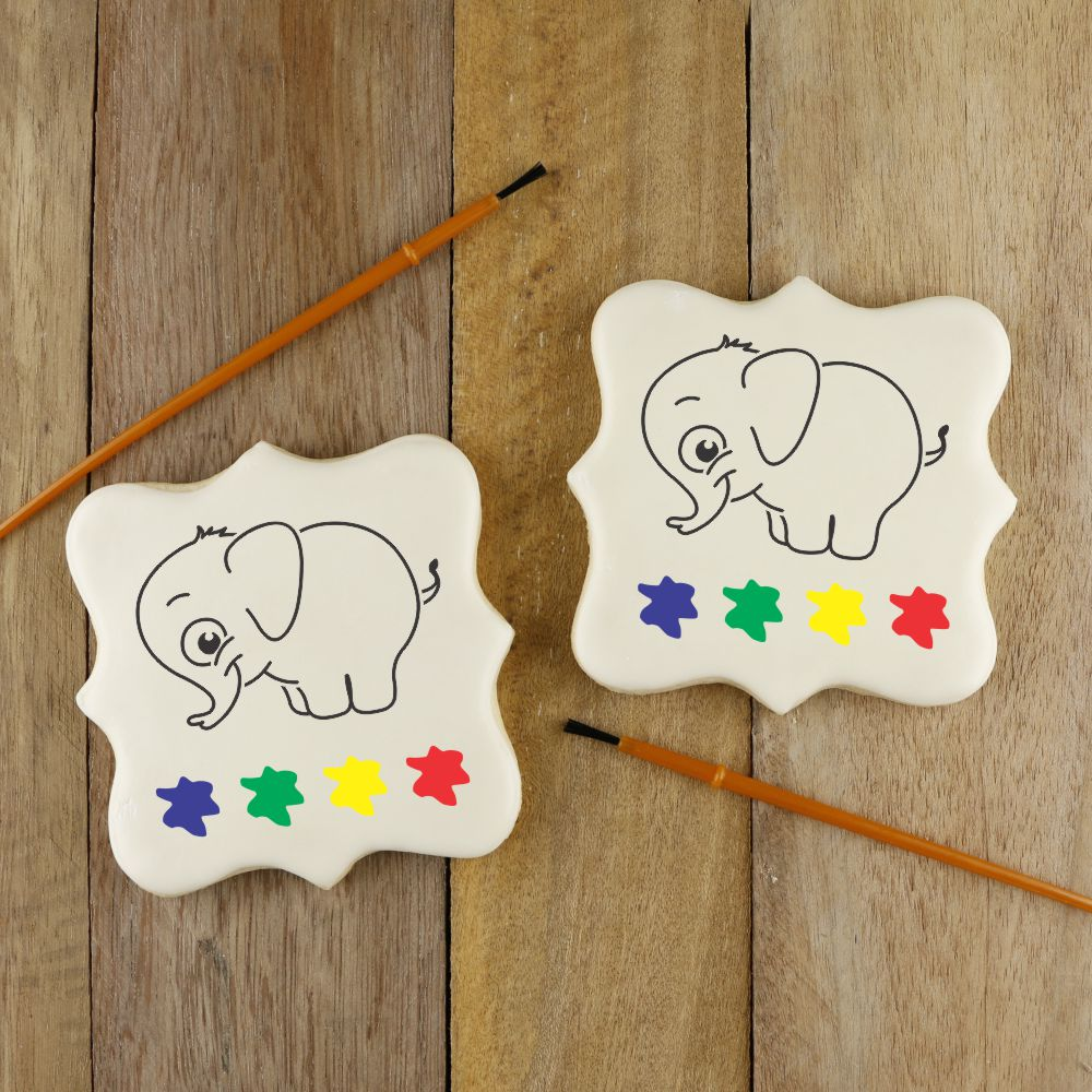 Elephant Paint Your Own Cookie Stencil