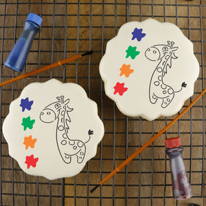 Giraffe Paint Your Own Cookie Stencil