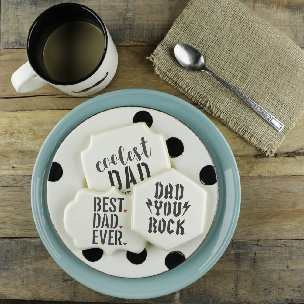 Fathers Day Cookies Dad Cookie Stencil Dad Fishing Cookies Fathers Day Stencil Dad Baking Stencils Fishing Cookie Stencil