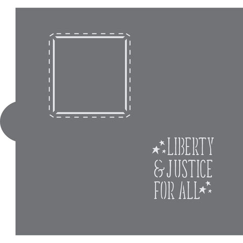 Liberty and Justice for All Cookie Stencil