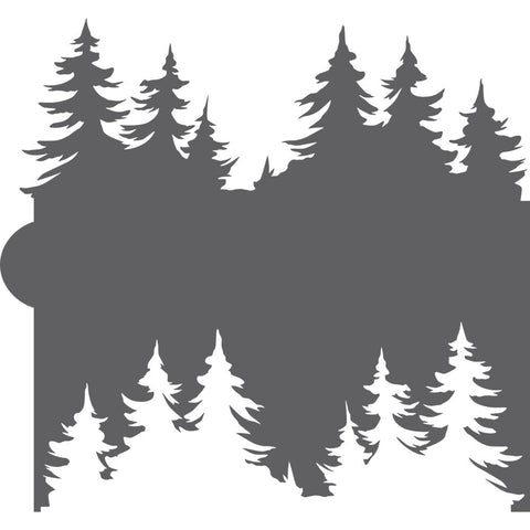 Pine Trees Cookie Stencil Edger