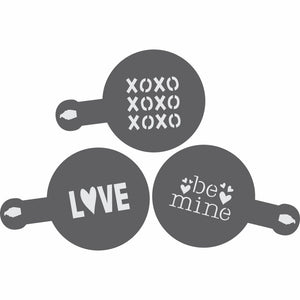 Love Barista Stencil 3 Piece Set