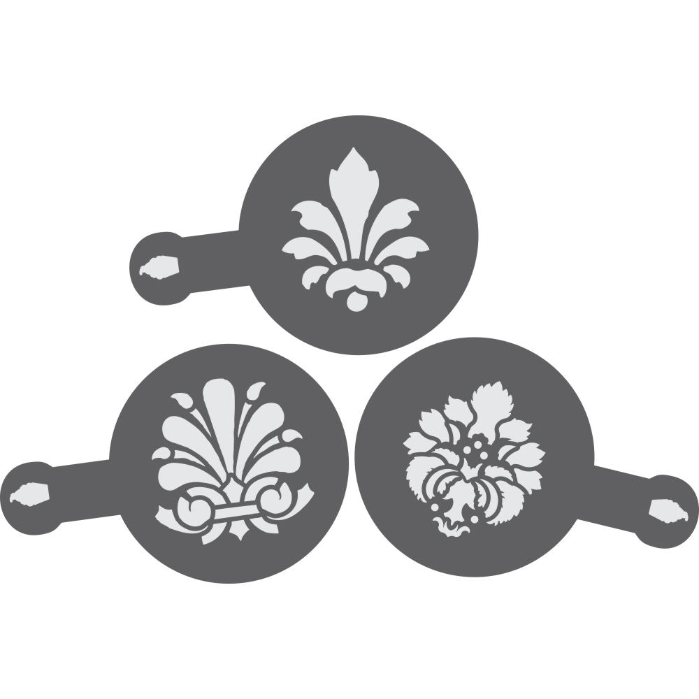 Damask Barista Stencil 3 Piece Set