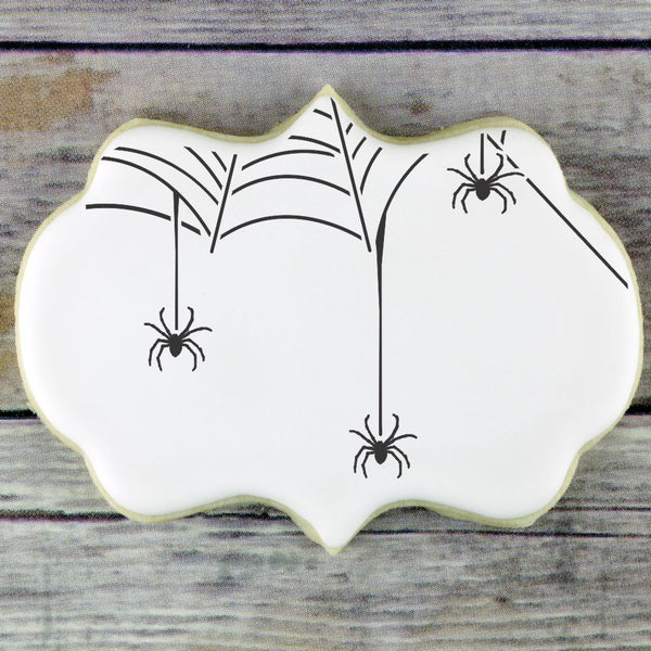 Web of Spiders Cookie Stencil