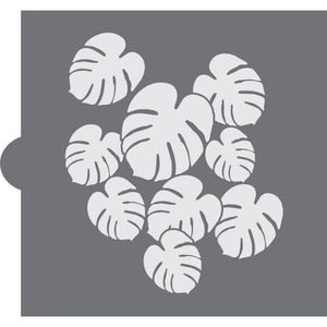 Philodendron Background Cookie Stencil