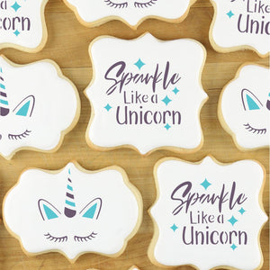 Sparkle Like a Unicorn Cookie Stencil