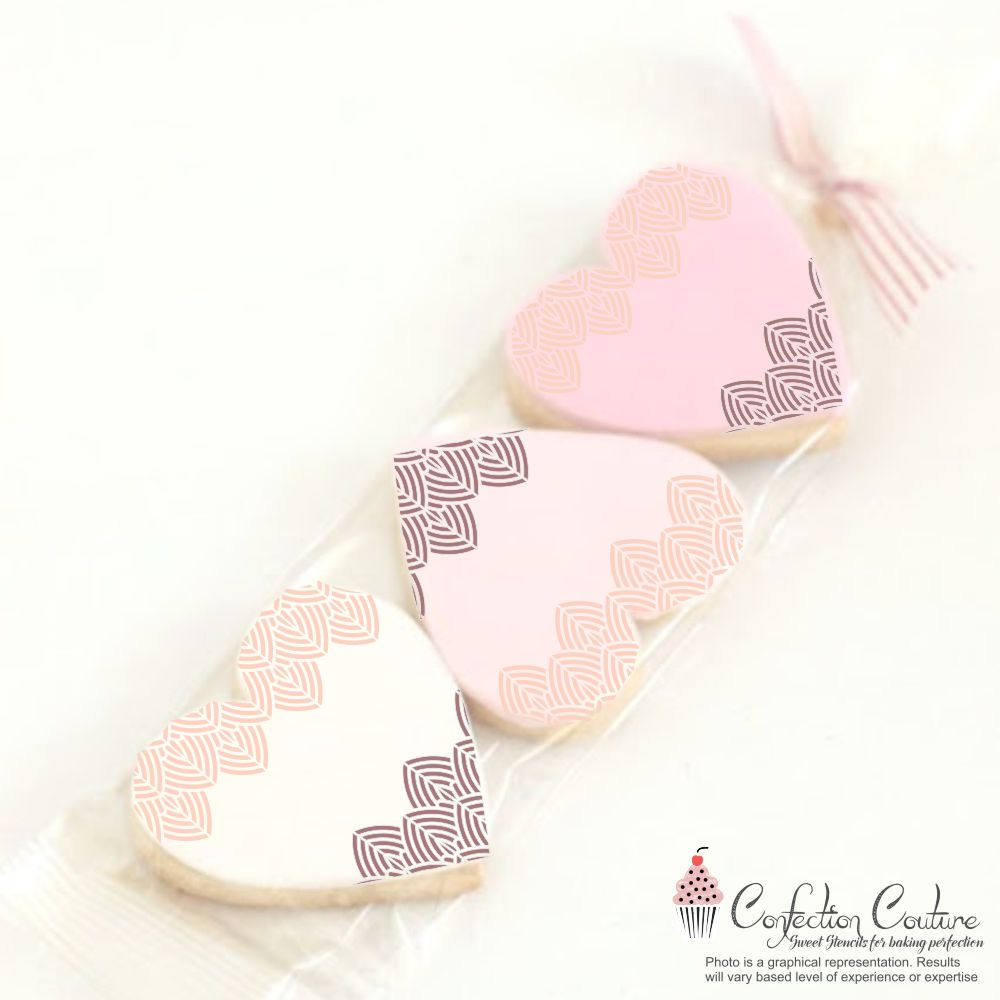 Edison Lace Border Cookie Stencil